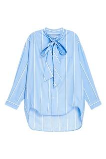 Голубая рубашка в полоску Balenciaga