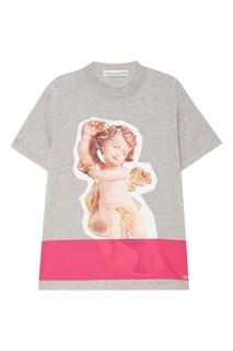 Серая футболка с ангелом Golden Goose Deluxe Brand
