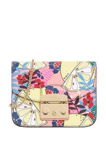 2d36802195ae Кожаная сумка с лимонами Metropolis Furla