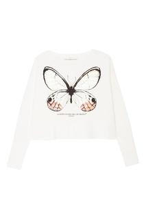 Белый свитшот с бабочкой Golden Goose Deluxe Brand