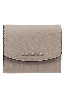Серый складной кошелек Money Pieces Michael Kors