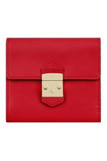 Красный кожаный кошелек Metropolis Furla