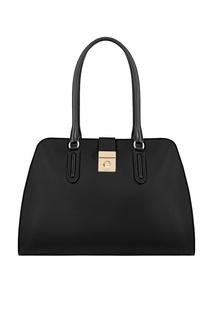 Черная кожаная сумка Milano Furla