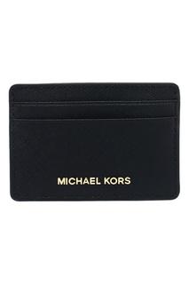 Черный футляр для карт Money Pieces Michael Kors