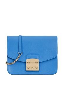 Синяя кожаная сумка Metropolis Furla