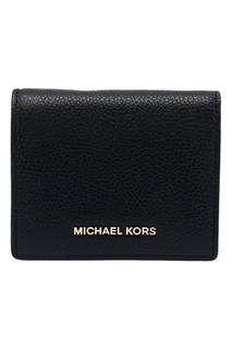 Черный складной кошелек Money Pieces Michael Kors
