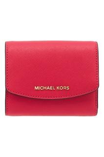 Розовый кошелек-мини с клапаном Money Pieces Michael Kors