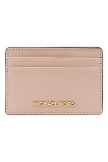 Розовый футляр для карт Money Pieces Michael Kors