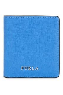 Синий кожаный кошелек Babylon Furla