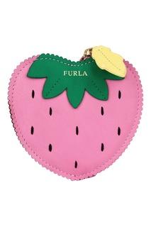 Розовый кошелек для монет Golosa Furla