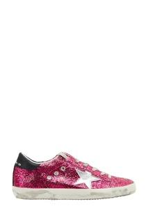 Розовые кеды с глиттером Superstar Golden Goose Deluxe Brand