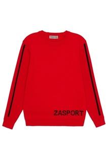 Красный джемпер с логотипом Zasport