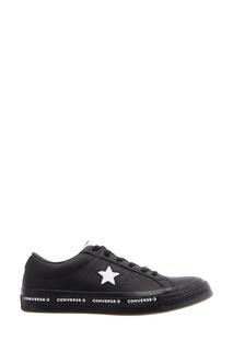 Черные кожаные кеды One Star Converse