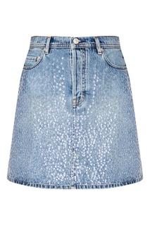 Джинсовая юбка с пайетками Acne Studios
