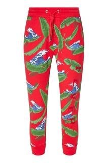 Хлопковые брюки с принтом Zoe Karssen