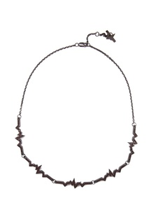 Серебряное колье-чокер с гранатами Caviar Jewellery