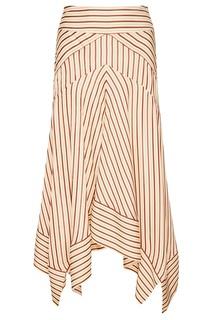 Асимметричная юбка в полоску Diane von Furstenberg