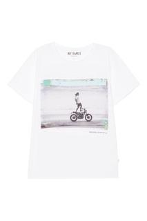 Белая футболка с фотопринтом Shore KO Samui