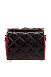 Черная лакированная сумка The Box Alexander Mc Queen