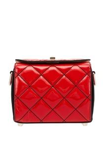 Красная лакированная сумка The Box Alexander Mc Queen