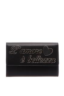 Черная кожаная сумка Dolce & Gabbana