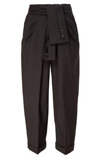 Черные брюки из шерсти и мохера Alexander Wang