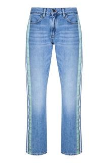Голубые джинсы с лампасами Victoria Beckham