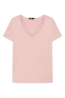 Розовая футболка из хлопка Manouk