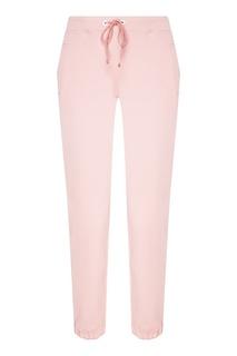 Розовые брюки из хлопкового трикотажа Manouk