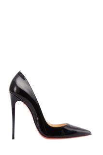 Черные лакированные туфли So Kate 120 Christian Louboutin