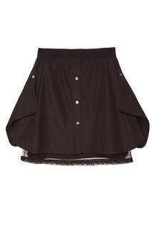 Черная хлопковая юбка Alexander Wang