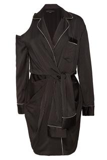 Черное платье в пижамном стиле Alexander Wang