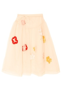Юбка-пачка из сетки с вышивкой Simone Rocha