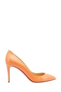 Оранжевые лакированные туфли Pigalle Follies 100 Christian Louboutin