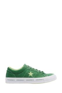 Зеленые замшевые кеды One Star Converse