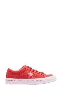Красные замшевые кеды One Star Converse