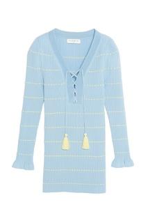 Голубой пуловер с завязками Sandro
