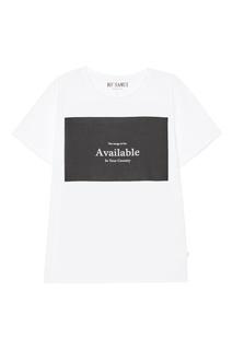 Белая футболка с принтом Available KO Samui