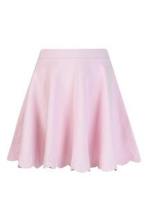 Розовая юбка с ажурным узором Ralph Lauren Children