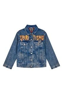 Джинсовая куртка с вышивкой Gucci