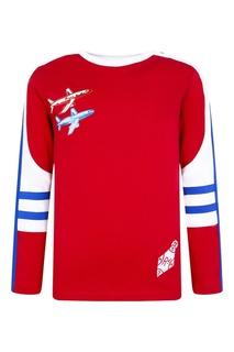 Красный свитшот с самолетами Burberry Children