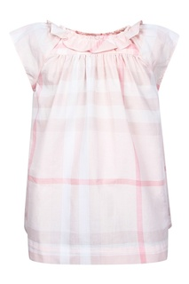 Комплект в розовую клетку Burberry Children