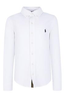 Белая рубашка с вышивкой Ralph Lauren Children