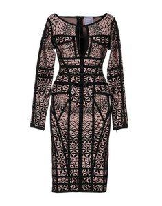 Платье до колена Hervé Léger