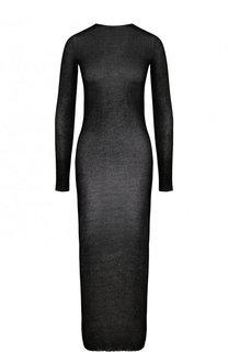 Полупрозрачное платье-футляр с длинным рукавом Isabel Benenato