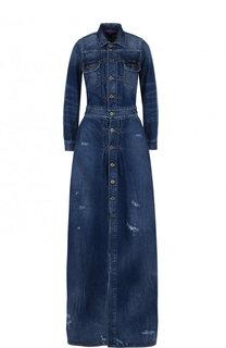 Джинсовое платье-макси с потертостями Ralph Lauren