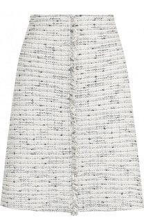 Твидовая мини-юбка St. John