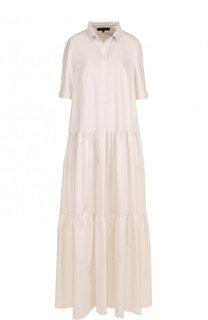 Однотонное хлопковое платье-макси Tegin