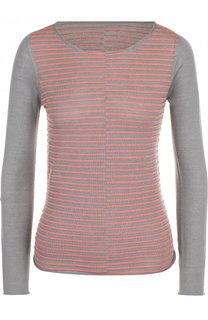Вязаный пуловер из смеси шерсти и шелка Giorgio Armani