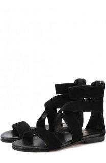 Замшевые сандалии Gallucci